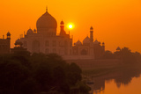 Sunset at Taj Mahal Photographic Print by Adrian Pope