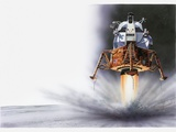 Illustration of Apollo Eagle Lunar Module Landing on the Moon, 1969 Photographic Print by Dorling Kindersley
