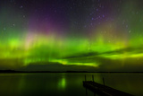 Aurora Borealis over Burntside Lake Photographic Print by Steve Burns