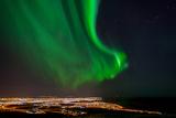 Aurora over Grafarvogur Photographic Print by Friðþjófur M.