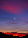 Moon at Sunset Photographic Print by Mark Miller