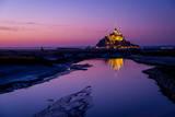 Sunset at Mont Saint-Michel Photographic Print by David Wong