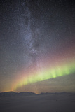 Aurora and the Milky Way, Iceland Photographic Print by David Clapp