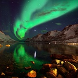 Northern Lights Reflections in Ersfjordbotn Photographic Print by John Hemmingsen