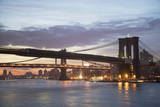 Usa, New York State, New York City, Brooklyn Bridge at Dawn Photographic Print by  Fotog