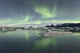 Jokulsarlon Lagoon Aurora Borealis Photographic Print by Reed Ingram Weir