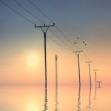 Telephone Post at Sunset Photographic Print by  kurtmartin