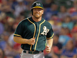 Sep 25, 2014, Oakland Athletics vs Texas Rangers - Brandon Moss Photographic Print by Tom Pennington