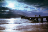 Hanalei Bay Pier. Photographic Print by Linda Ching