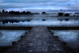 Pier in Front of Lake Photographic Print by Cadet Ludovic