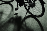 Standing Bicycle on Display Photographic Print by Ingo Jezierski