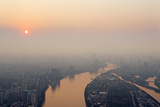 Elevated View of Guangzhou and Pearl River Photographic Print by Guy Vanderelst