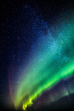 Milky Way and Aurora Borealis, Iceland Photographic Print by  Arctic-Images