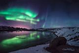Northern Lights Fotografisk tryk af Getty_Photo