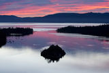A Silhouette of Fannette Island in Emerarld Bay during a Beautiful Sunrise in Lake Tahoe, Ca. Photographic Print by Rachid Dahnoun