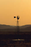 A Desert Windmill at Sunset Photographic Print by Wesley Hitt