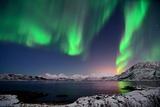 Northern Lights and Moonlit Landscape Photographic Print by John Hemmingsen