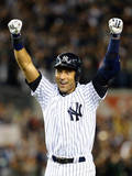 Sep 25, 2014, Baltimore Orioles vs NY Yankees - Derek Jeter's Last Home Game at Yankee Stadium Photographic Print by Al Bello