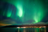Northern Lights over a Norwegian Fjord Photographic Print by Andrea Ricordi, Italy