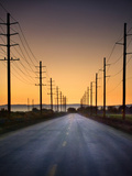 Road and Power Lines at Sunset Photographic Print by  www.jodymillerphoto.com