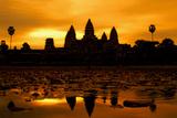 Angkor Wat at Sunrise Photographic Print by David Lazar