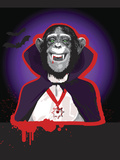 Chimpanzee in Dracula Costume Photographic Print by New Vision Technologies Inc