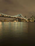 The Manhattan Bridge and the East River at Night Photographic Print by Jeff Spielman