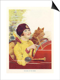 The Girl At The Wheel, C.P Shilton, UK Prints