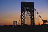 Silhouette of George Washington Bridge at Sunset Photographic Print by Ray Warren