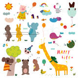 Various Animals Photographic Print by Eastnine Inc.