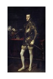 Portrait of Philip Ii, Son of Charles Quint by Titian Giclee Print