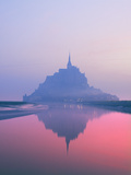 Mont St Michel at Dawn Photographic Print by Brian Lawrence