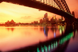 Australia, Sydney,Skyline with Opera House and Harbour Bridge Photographic Print by Chad Ehlers