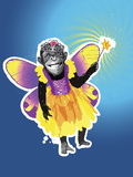 Chimpanzee in Fairy Costume Photographic Print by New Vision Technologies Inc