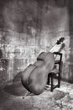 Bass Leaning on Chair. Photographic Print by Grant Faint