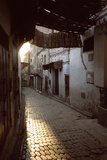 Sun Rising over Village Alleyway Photographic Print by Henglein and Steets
