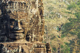 Giant Carved Stone Faces, Bayon Temple, Angkor Wat Photographic Print by Alex Linghorn