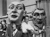 Carnival Effigies Reproduction photographique par Three Lions
