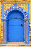 Ornate Moroccan Doorway, Essaouira, Morocco, Middle East, North Africa, Africa Fotodruck von Andrea Thompson Photography