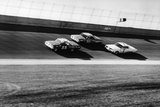 Three Stock Cars Racing on Track Photographic Print by Frederic Lewis