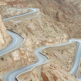 Morrocco, Atlas Mountains, Winding Mountain Road Photographic Print by Tim Hall
