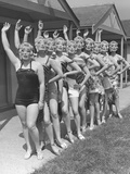 Butlin's Masks Photographic Print by Fred Ramage