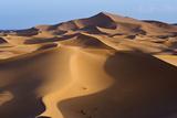 Sunrise in the Erg Chebbi Dunes at Merzouga, Algerian Border, Morocco. Photographic Print by Rob Henderson