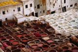The Fes Leather Tannery with its Colourful Wells and Pungent Odour. the World Famous Leather is Dye Photographic Print by Kristin Piljay