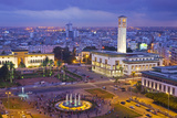 Place Mohammed V and City Skyline, Dusk Photographic Print by Scott E Barbour