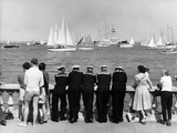 Watching Cowes Photographic Print by Fox Photos