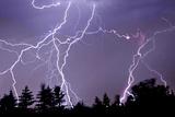 Three Frames of Lightning Hitting Cedar Hills Area Photographic Print by Utah-based Photographer Ryan Houston
