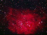 The Lagoon Nebula in Sagittarius Photographic Print by a. v. ley