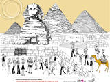Tourist at the Great Sphinx and the Pyramids of Giza Photographic Print by Eastnine Inc.