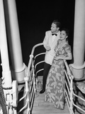 Couple in Evening Wear Photographic Print by George Marks